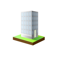 Urban scene featuring a high rise condominium vector