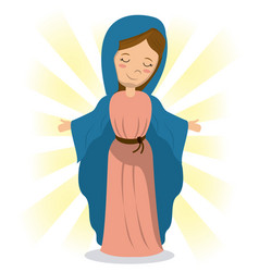 Virgin mary holiness divine image vector