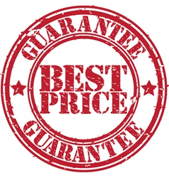 Best Price guarantee stamp vector image vector image