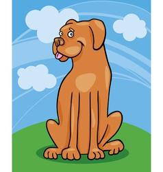 boxer dog cartoon vector image
