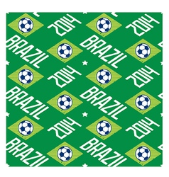 Brazil football seamless pattern vector image vector image