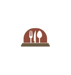 food serve cooking logo vector image vector image