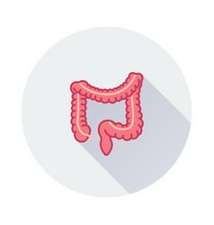 Intestines icon on round background vector