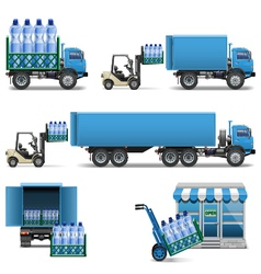 Mineral Water Shipping vector image vector image