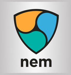 nem xem blockchain cripto currency logo vector image vector image
