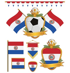 paraguay flags vector image vector image