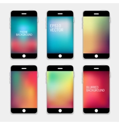Phones Blurred Backgrounds vector image vector image