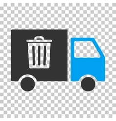Rubbish transport van eps icon vector