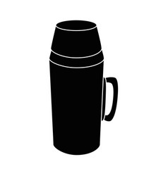 thermos flask black vector image