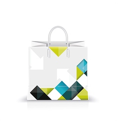 white shopping paper or plastic bag vector image