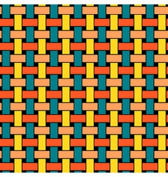 Wicker Seamless Pattern vector image vector image