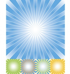 abstract rays background set cmyk vector image