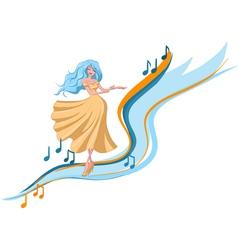 dancing woman vector image vector image