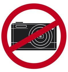 no camera symbol vector image vector image