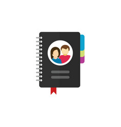 notepad for contacts icon vector image