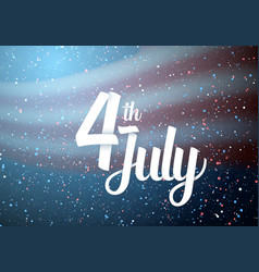 Usa independence day poster vector