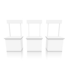 various angles blank white promotion stand vector image vector image