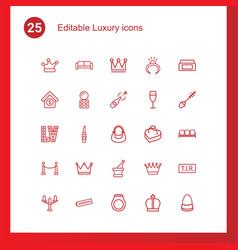 25 luxury icons vector