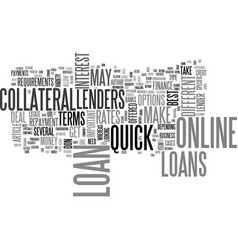 a guide to quick online loans text word cloud vector image