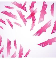 Abstract background bird vector