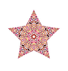 Abstract colorful geometrical flower ornament vector