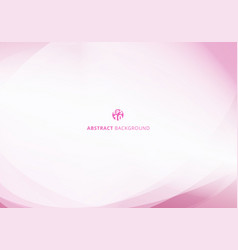 abstract elegant pink pastel color curve light vector image