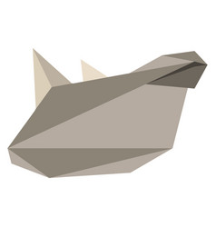 Abstract low poly rhino icon vector