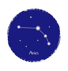 Aries zodiac constellation sign on dark background vector