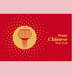 Attractive chinese lamp new year decoration vector