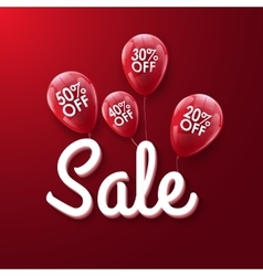 Baloons Discount SALE concept for shop market vector image