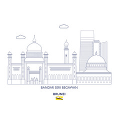 Bandar seri begawan city skyline vector