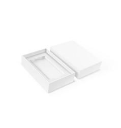 blank mobile box packaging for branding template vector image