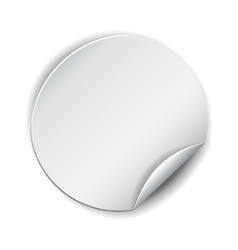 Blank white round promotional sticker vector image