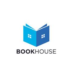 Book and house for logo designs concept editable vector