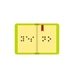 Book written in Braille icon flat style vector image
