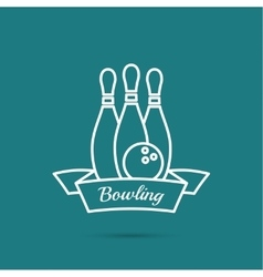 Bowling Pin and ball vector