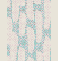 Brushed quatrefoil pastel rectangle rug vector