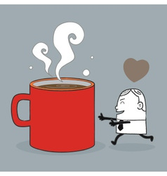 Busines Man Love Coffee vector image
