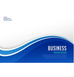 Business brochure presentation template in blue vector