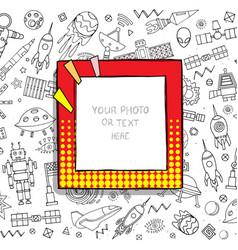 cartoon template frame vector image