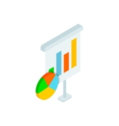 Chart and diagram icon isometric 3d style vector image