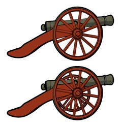 Civil war cannon view side vector