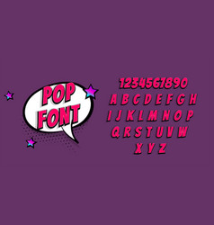 comic book pop art super hero font vector image
