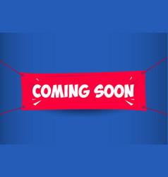 Coming soon banner template design vector