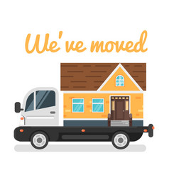 concept for home moving vector image