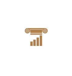creative law building logo vector image