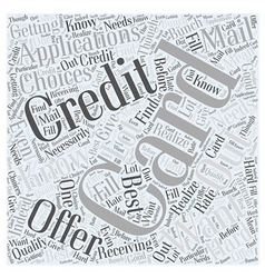 Credit card applications Word Cloud Concept vector