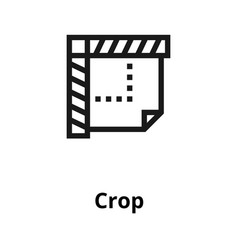crop thin line icon vector image vector image
