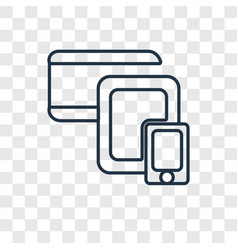 cross-platform concept linear icon isolated on vector image