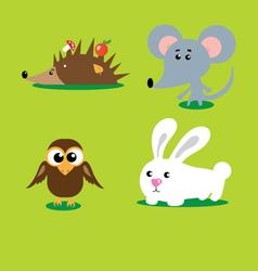 cute animals set vector image